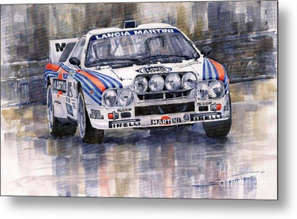 Lancia 037 Martini Rally 1983 Metal Print