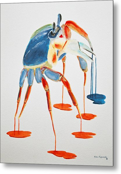 Land Crab Fight Stance Metal Print