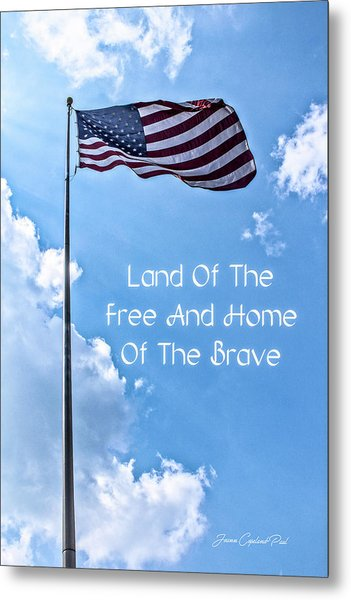 Land Of The Free Metal Print