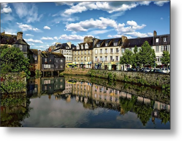 Landerneau Village View Metal Print