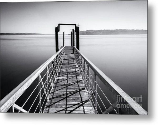 Landing Dock Metal Print