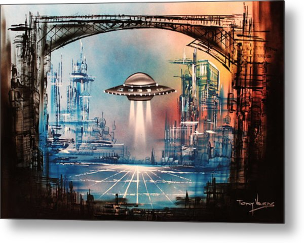 Landing Home Metal Print by Tony Vegas