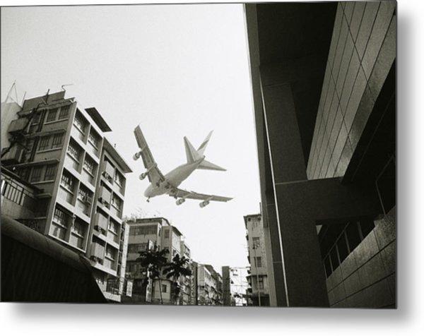 Landing In Hong Kong Metal Print