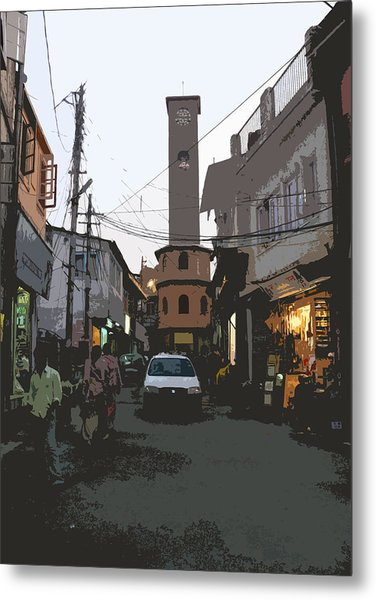 Landour Clock Tower Metal Print