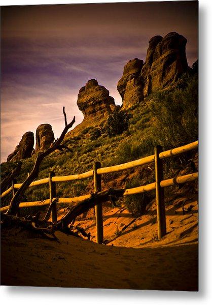 Landscape Arch 3 Metal Print