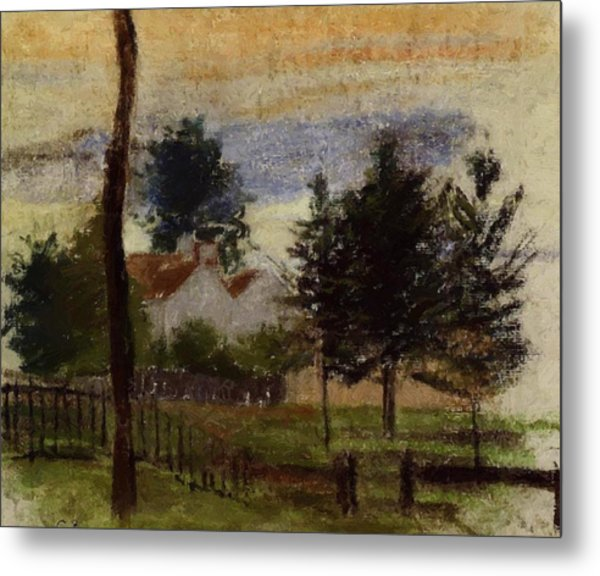 Landscape At Louveciennes Metal Print