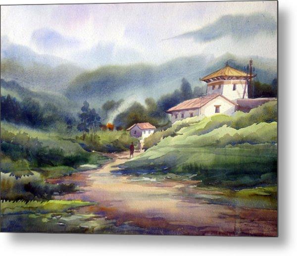 Landscape Of Bhutan Metal Print