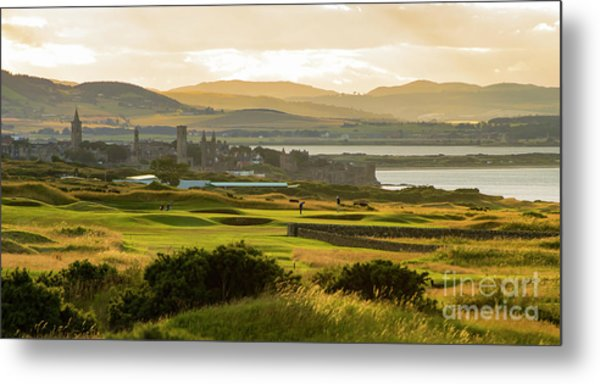Landscape Of St Andrews Home Of Golf Metal Print