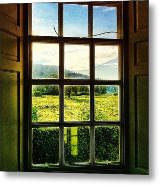 #landscape #window #beautiful #trees Metal Print