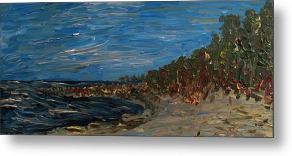 Landscape With Green Bay Metal Print by Jacob Stempky