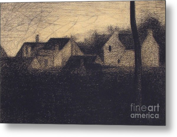 Landscape With Houses Metal Print