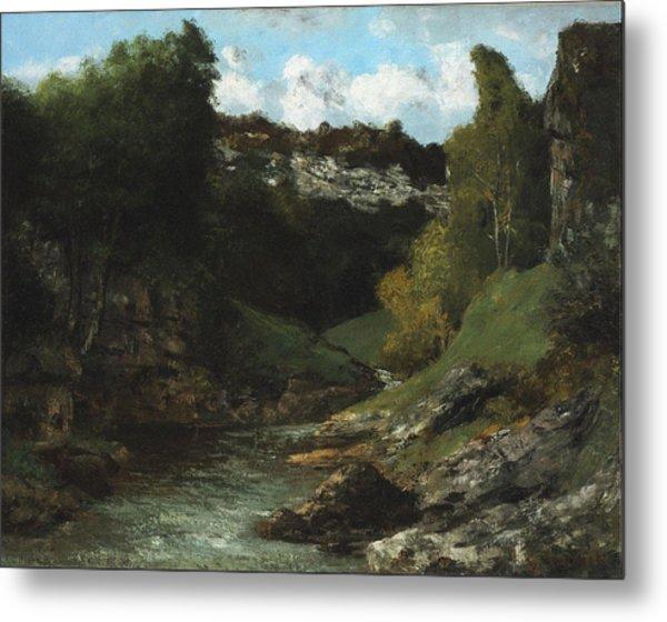 Landscape With Rocks 1872 Metal Print