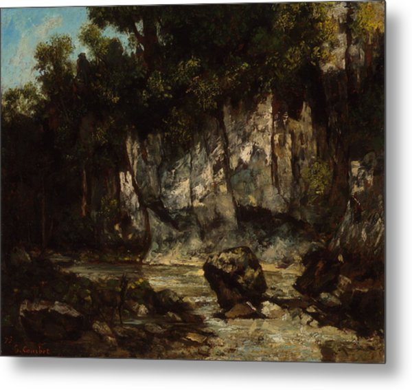 Landscape With Stag 1873 Metal Print