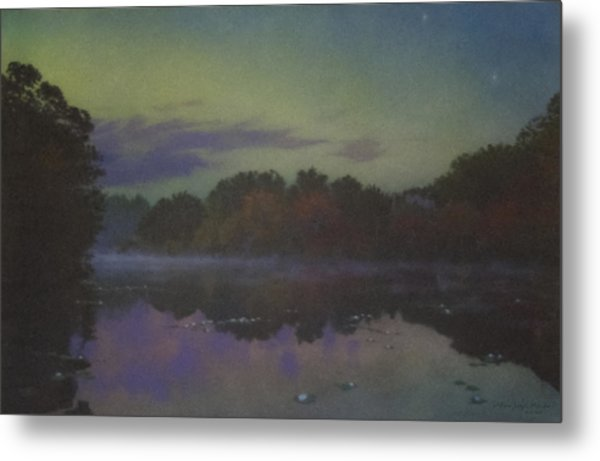 Langwater At Twilight Metal Print