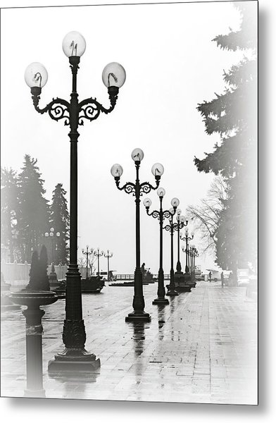 Lanterns Of Mariyinskyi Park. Kyiv, 2015. Metal Print