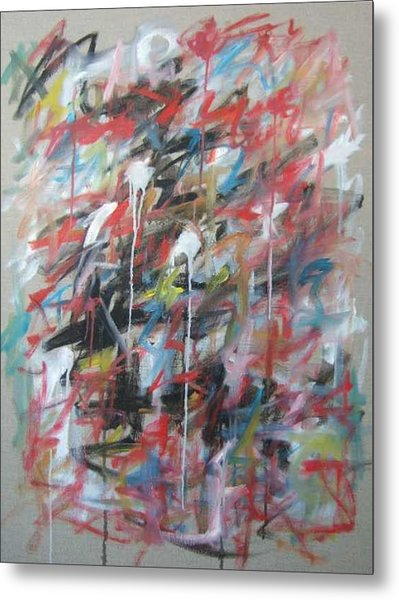 Large Abstract No 4 Metal Print by Michael Henderson