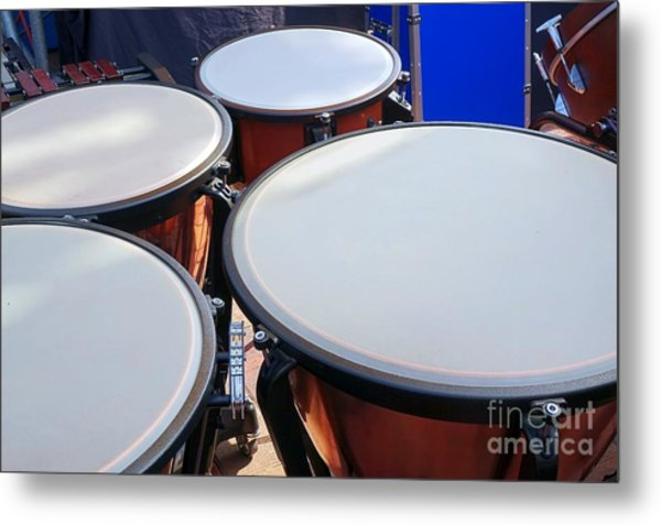 Large Copper Kettledrums Metal Print