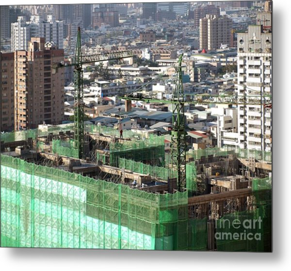 Large Scale Construction Site Metal Print
