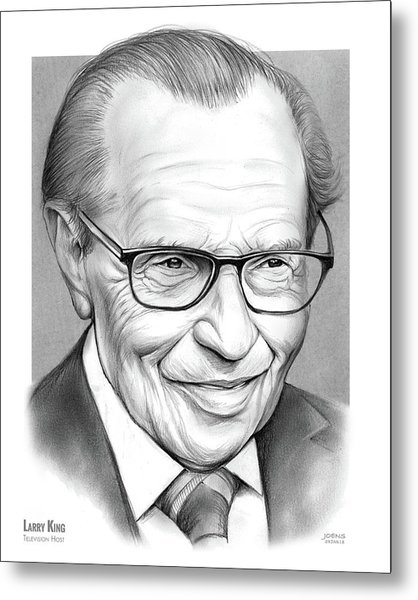 Larry King Metal Print