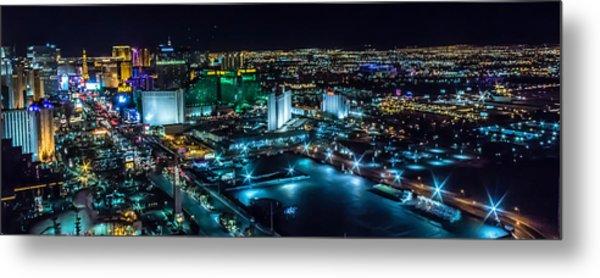 Las Vegas Looking North Metal Print
