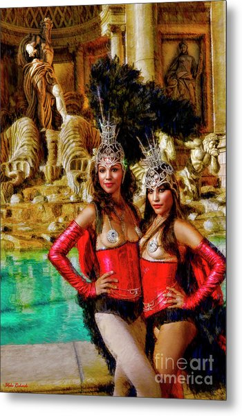 Las Vegas Showgirls Metal Print