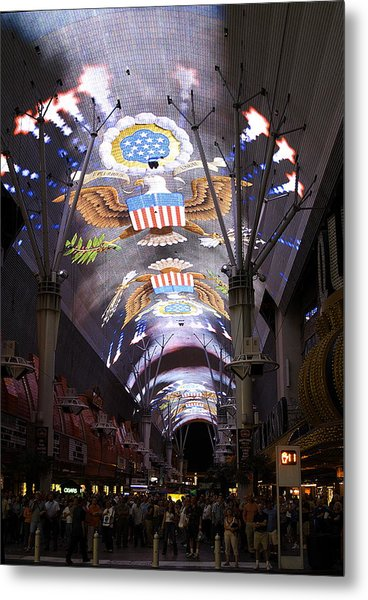 Las Vegas Street Light Show Metal Print