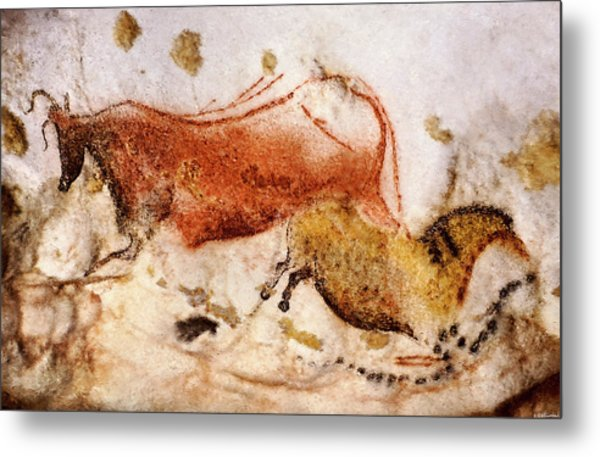 Lascaux Cow And Horse Metal Print