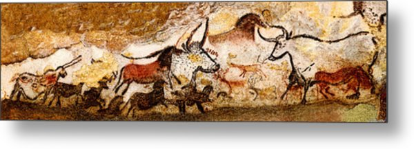 Lascaux Hall Of The Bulls Metal Print