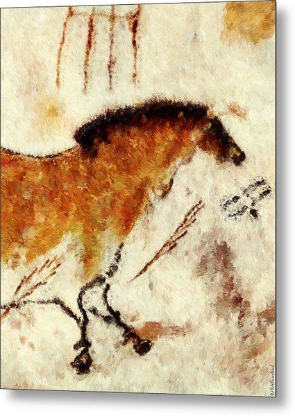 Lascaux Prehistoric Horse Detail Metal Print