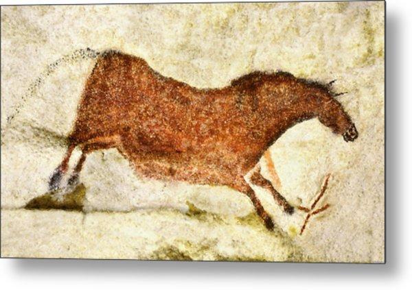 Lascaux Red Horse Metal Print