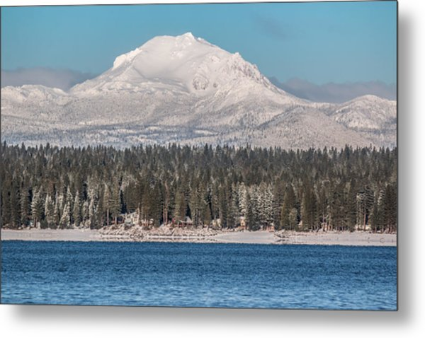 Lassen On Christmas Morning Metal Print