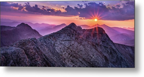 Last Light At The Summit Metal Print