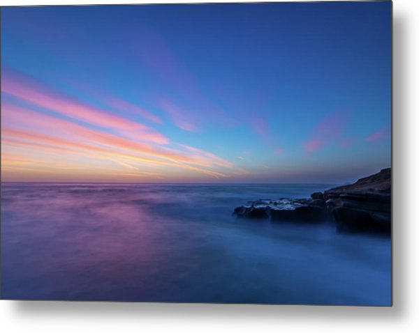 Last Light In April, Sunset Clifs Metal Print