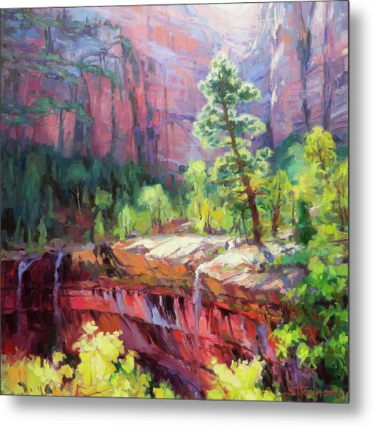 Last Light In Zion Metal Print