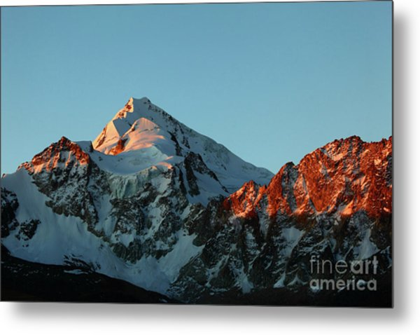 Last Light On Mt Huayna Potosi Metal Print