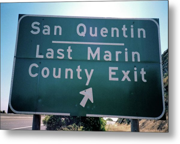 Last Marin County Exit Metal Print