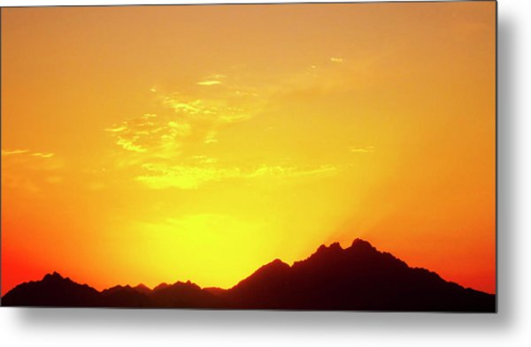 Last Moments Sunset In Africa Metal Print