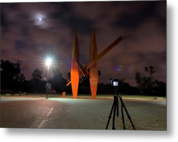 Metal Print featuring the photograph Last Night In The Park by Dubi Roman