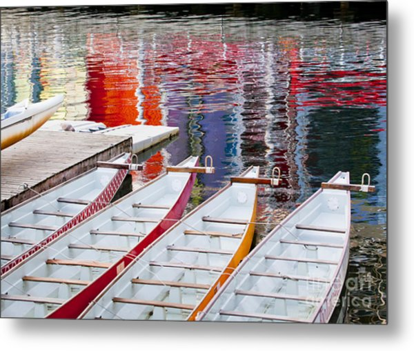 Last Of The Dragon Boats Metal Print