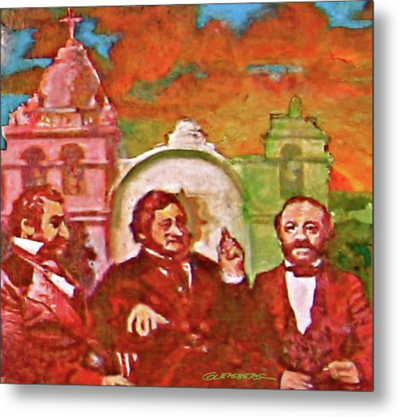 Last Three Mexican Generals Metal Print