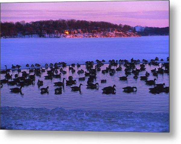 Last To Leave - Lake Geneva Wisconsin Metal Print