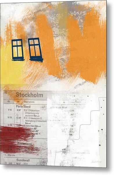 Last Train To Stockholm- Art By Linda Woods Metal Print