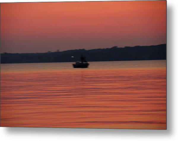 Late Afternoon At The Lake. Metal Print