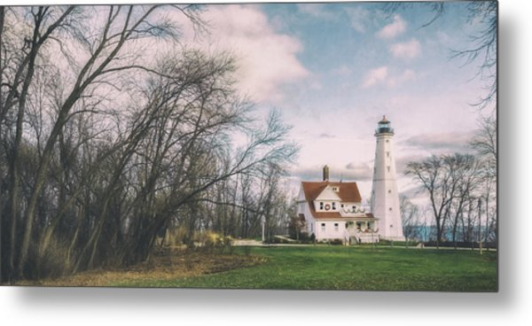 Late Afternoon At The Lighthouse Metal Print