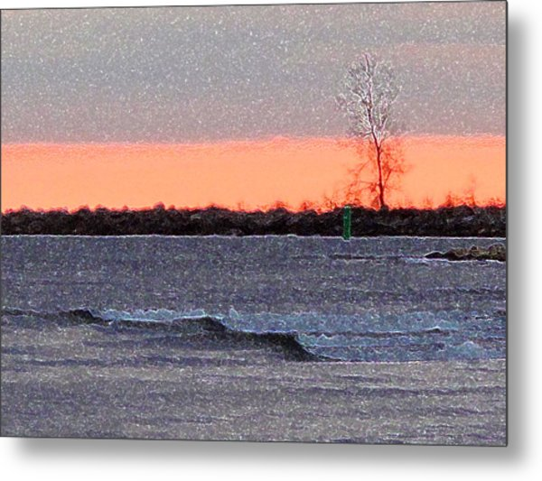 Late Afternoon By The Lake 2 Metal Print by Lyle Crump