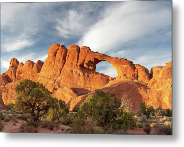 Late Afternoon Light On Skyline Arch Metal Print