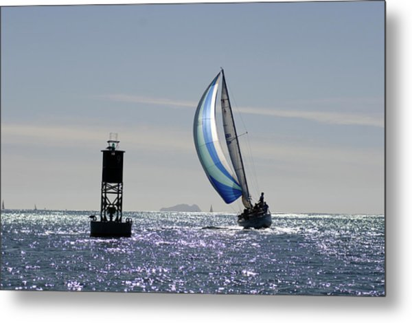 Late Afternoon Sail Metal Print