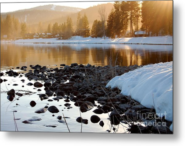 Late Aternoon  Lake Tahoe Metal Print by Heather S Huston