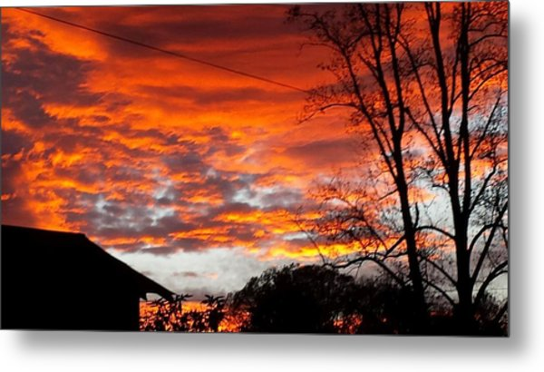 Metal Print featuring the photograph Late Autumn Sunset by Deb Martin-Webster