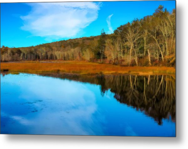 Late Fall At A Connecticut Marsh. Metal Print